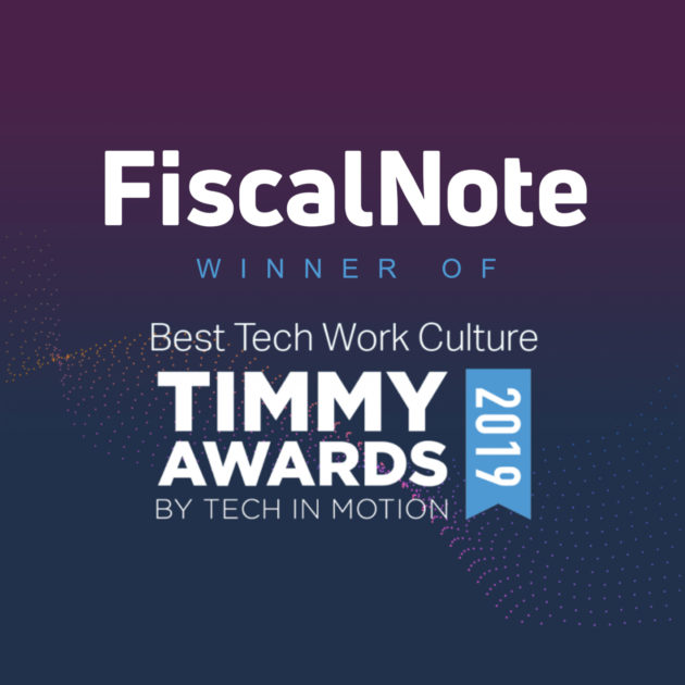 Timmy Awards - FiscalNote as Winner